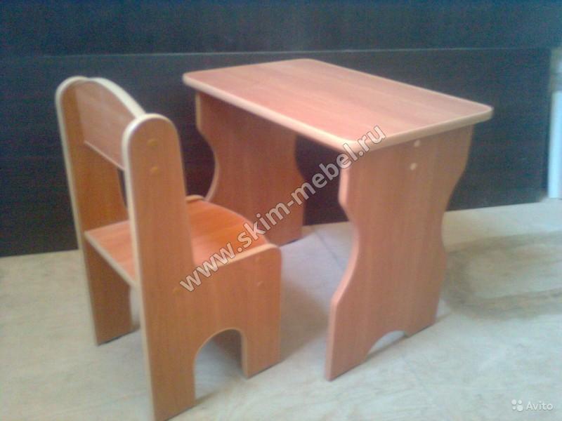 Детский столик и стульчик из дсп